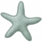 Coastal Starfish Felt- Teal