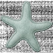 Coastal Starfish Felt- Teal