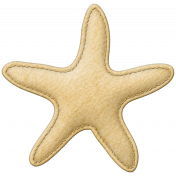Coastal Starfish Felt- Yellow