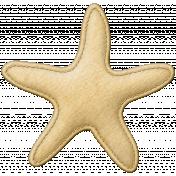 Coastal Starfish Felt- Yellow