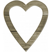 Coastal Heart Wooden Frame