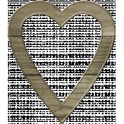 Coastal Heart Wooden Frame