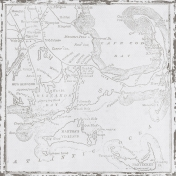 Coastal- Cape Cod Map Paper