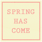 Garden Bunny- Spring Has Come Label