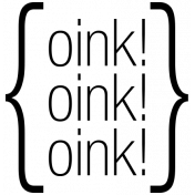 Oink- At The Farm Word Art