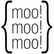 Moo- At The Farm Word Art