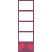 Purple Film Strip Frame
