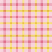 At The Farm- Plaid Paper- Pink & Yellow