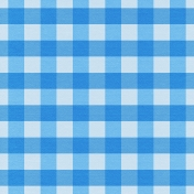 At The Farm- Plaid Paper- Blue