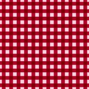 At The Farm- Plaid Paper- Red & Pink