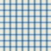 At The Farm- Plaid Paper- Blue & Off-White