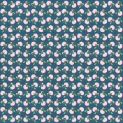 At The Farm- Floral Paper- Blue & Pink