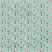 Paisley 6 Paper- Teal & Gray