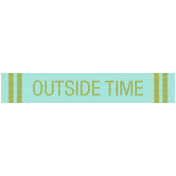 Earth Day- Outside Time Label