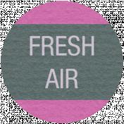 Earth Day- Fresh Air Label