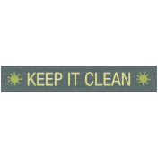 Earth Day- Keep It Clean Label