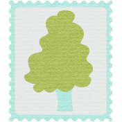 Earth Day- Tree Postage Stamp