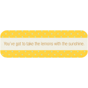 Sunshine & Lemons Label- Lemons With Sunshine