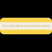 Sunshine & Lemons Label- Lemons With Sunshine