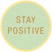 Sunshine & Lemons Label- Stay Positive