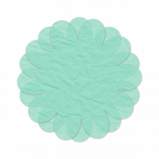 Tissue Paper Flower 2- Teal