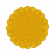 Tissue Paper Flower 2- Yellow