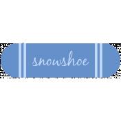Snowshoe Label
