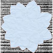 Blue Paper Flower- Snowshoes