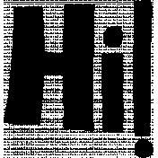 Hi! Word Art- Hello