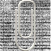 Paper Clip 5- White