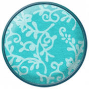 Lilies- Floral Brad- Blue