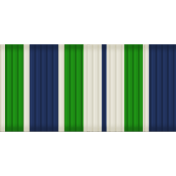 Medium Ribbon- Stripes- Blue & Green