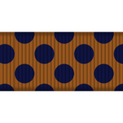 Medium Ribbon- Polka Dots 02- Brown & Navy