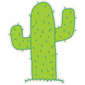 Cactus Sticker- Mexico