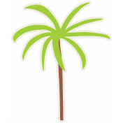 Palm Tree Sticker- Mexico