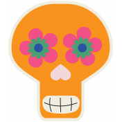 Skull Sticker 01- Mexico