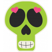Skull Sticker 02- Mexico