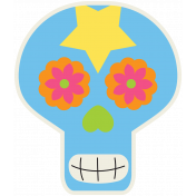 Skull Sticker 03- Mexico
