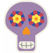 Skull Sticker 04- Mexico