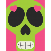 Skull Journal Card 01- Mexico