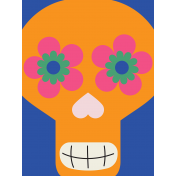 Skull Journal Card 02- Mexico