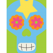 Skull Journal Card 03- Mexico