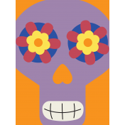 Skull Journal Card 04- Mexico