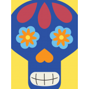 Skull Journal Card 05- Mexico