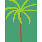 Palm Tree Journal Card- Mexico