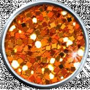 Orange Glitter Brad 05b- Mexico
