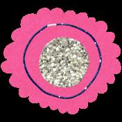 Glitter Flower Set 022p- Mexico