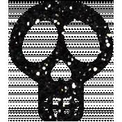 Black Glitter Skull- Mexico