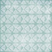 Damask 08- Blue & White