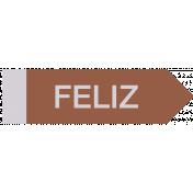 Mexico Labels- Feliz (Happy)